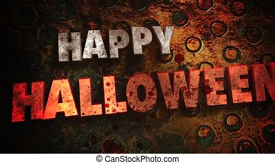 Animation text Happy Halloween and mystical horror ...