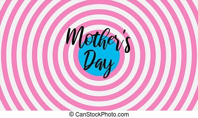 Animation text Mothers Day on pink fashion and minimalism background with vertigo spiral. Elegant and luxury dynamic style for holiday and promo template