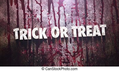 Animation text Trick or Treat on mystical horror background ...
