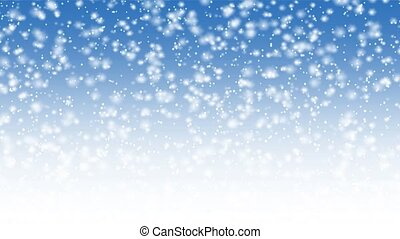 animation, tomber, neige