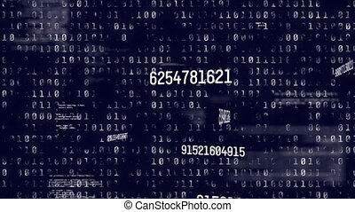 animation, traitement, codage, nombres, changer, données binaires