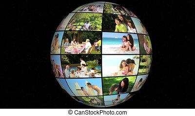 animation, vacances, famille, 3d