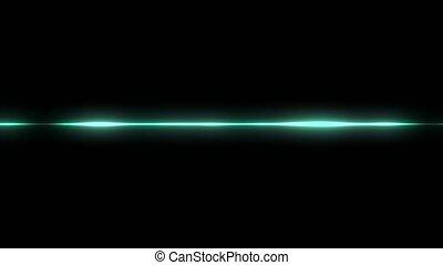 animation, vague, audio, vert, visualisation, forme onde, fond, noir