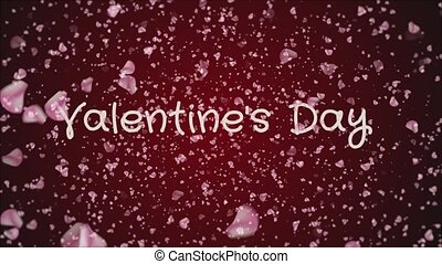 Animation Valentine's day, greeting card, falling pink...