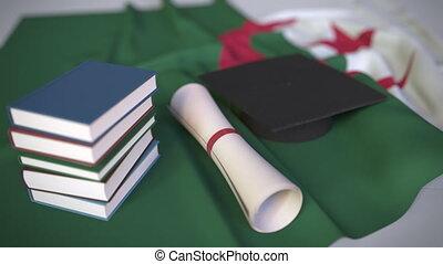 animation, verwandt, flag., algerien, bildung,...