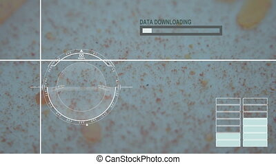 animation - Virus, bacteria, microbe. HUD Futuristic medical background