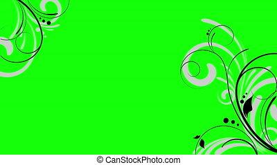 animation, voile de surface, floral, seamless