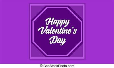 animation, von, gruß, glücklich, valentine, tag