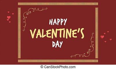 animation, von, gruß, valentine, tag, mit, verzierung