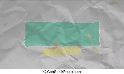 Animation white hipster and grunge paper background