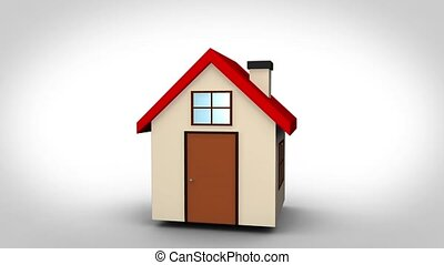 Animation with 3d house and video
