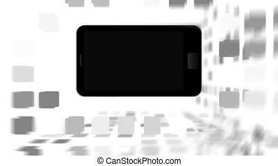Animation with a black smartphone