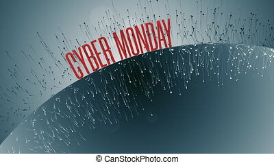 Animation With Cyber Monday Text