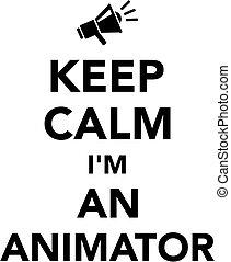 animator, calme, garder