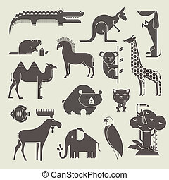 animaux, ensemble