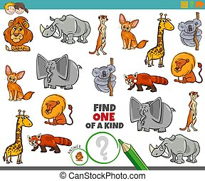 animaux, jeu, enfants, une, espèce