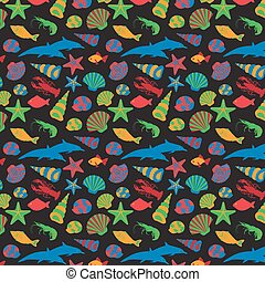 animaux, seamless, mer, pattern.vector