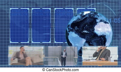 animazione, circa, affari globali