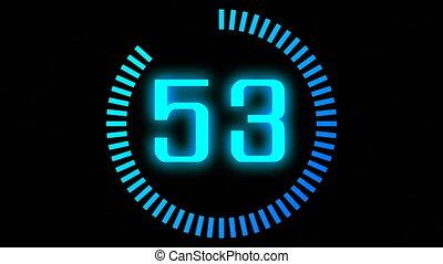animazione, di, countdown., concetto, di, challence.