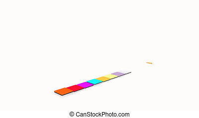 animazione, di, grafica
