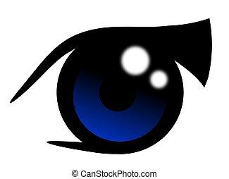 Anime Blue Eye