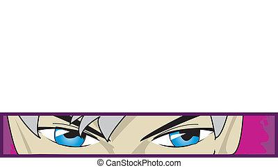 anime eyes - cartoon