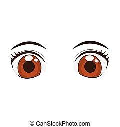 anime eyes style comic