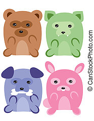 anime of adorable animals - is an illustration in an EPS...