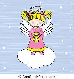 anioł, chmura