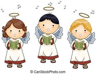 anioły, śpiew