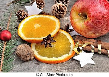 anis on a orange slice