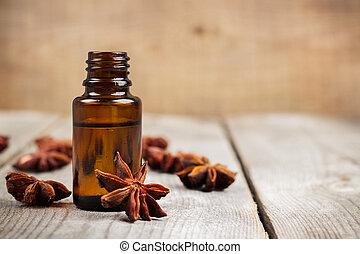 anis, organique, huile essentielle