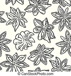 anise seamless pattern