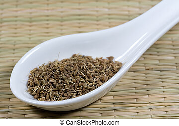 aniseed on a white spoon