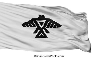 Anishinabe Indian Flag Isolated Seamless Loop - Anishinabe...