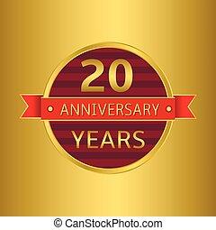 aniversário, 20 anos
