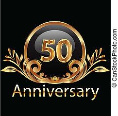 aniversário, anos, aniversário, 50