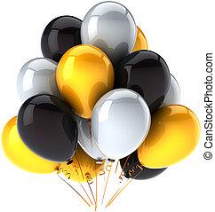 aniversário, balões, decoração partido