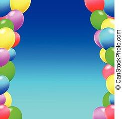 aniversário, balões