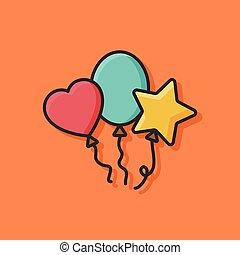 aniversário, balloon, ícone