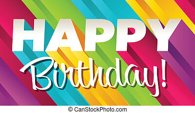 aniversário, coloridos, feliz