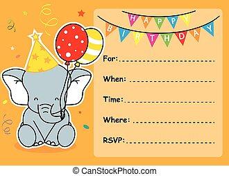 aniversário, convite