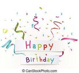 aniversário, fundo, celebração