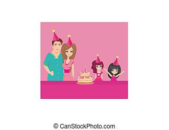 aniversário, partido família