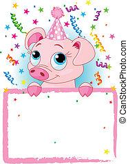 aniversário, porquinho