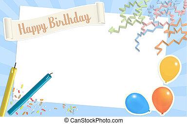 aniversário, scrapbook, página