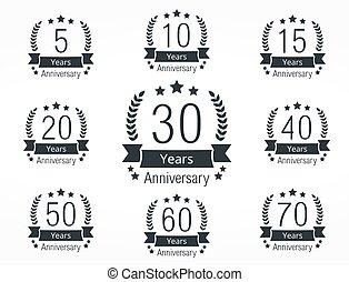 aniversario, emblemas