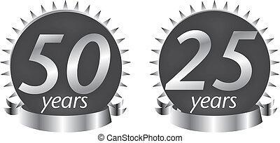 aniversary, 25, jaren, 50, zeehondje
