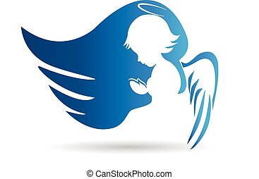 anjo azul, logotipo
