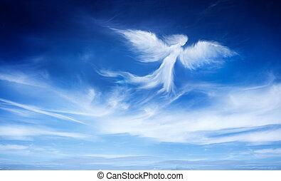 anjo, em, a, céu